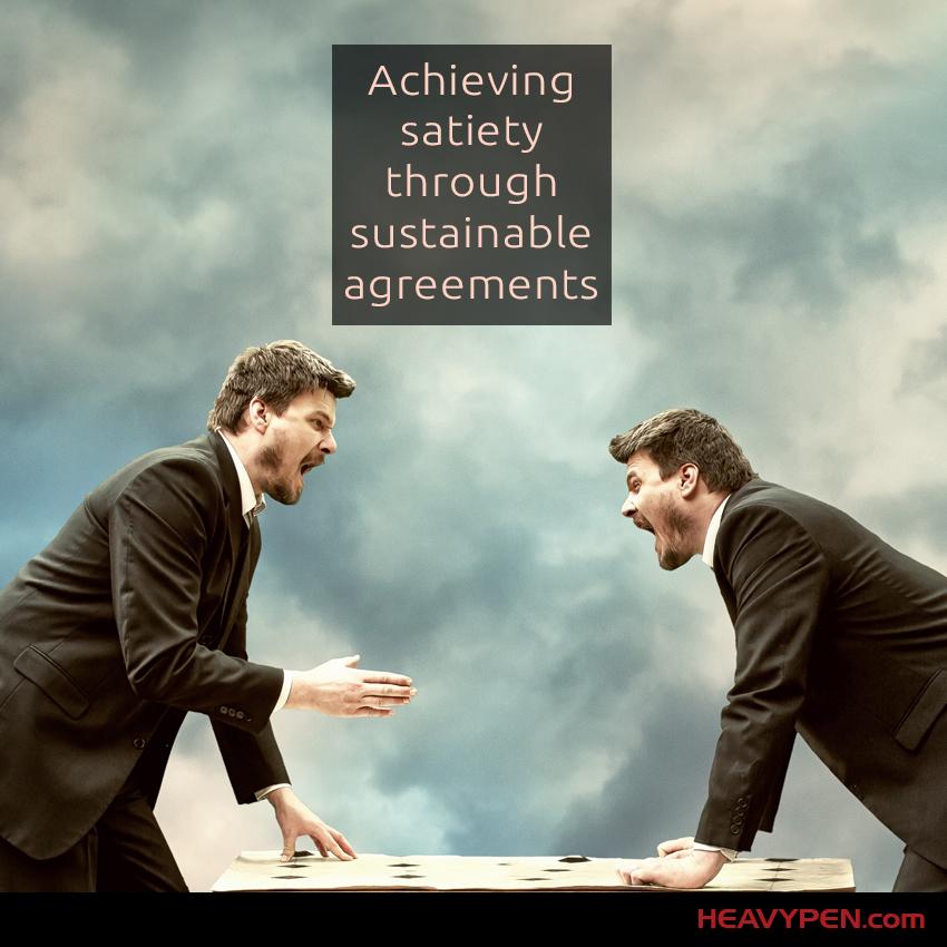 Negotiation-satiety