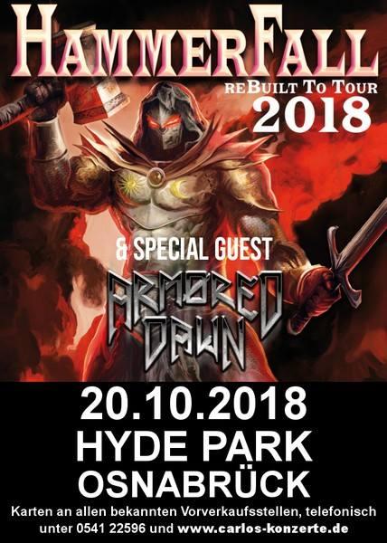 Hammerfall ReBuilt To Tour 2018 Osnabrück