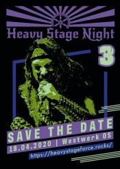 Konzertflyer Heavy Stage Night 3 Save The Date