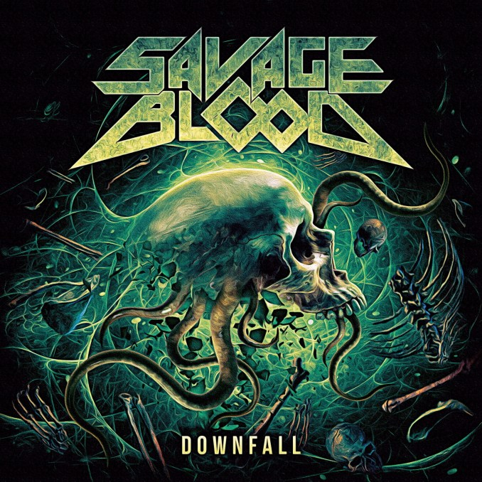 CD-Cover Downfall - Savage Blood