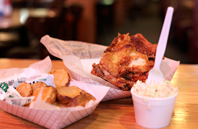 Broasted Chicken at the Brass Rail in GrandyThe Heavy