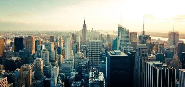 הנוף של ניו יורק מהגג