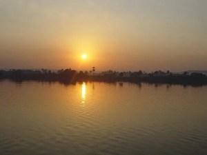 הנילוס \ יאור בשקיעה