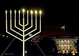 חנוכיה מול הבית הלבן
