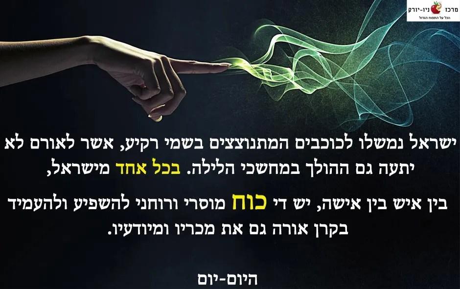 משל על ישראל ככובים