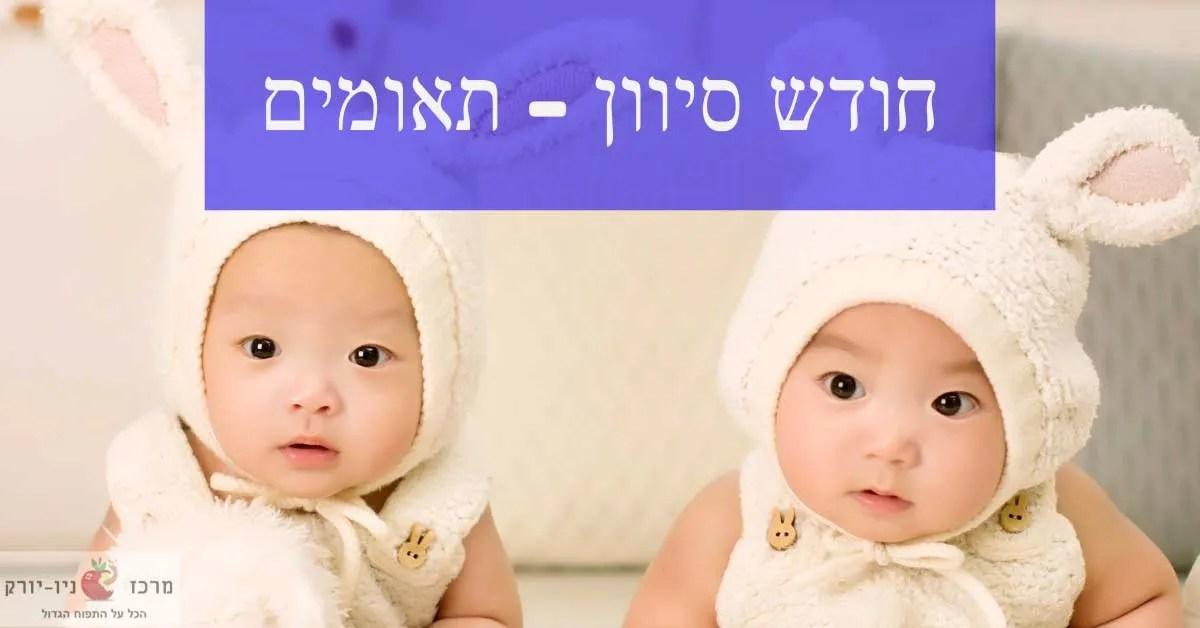 חודש סיון תאומים