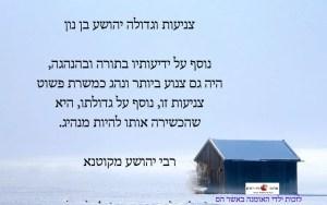 צניעות וגדולה המפתח למנהיגות טובה - יהושע בן נון