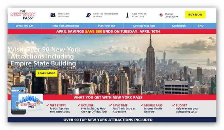 The New York Pass - הניו יורק פס קופון