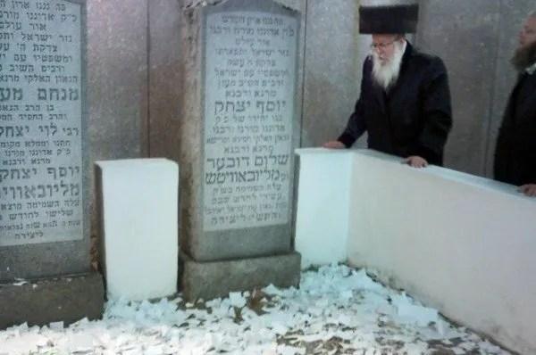 """הרב אליעזר שלמה שיק באוהל חב""""ד"""