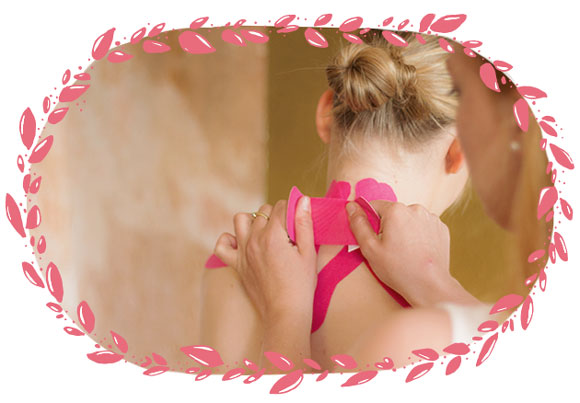 Kinesio Tape zur Behandlung von Rückenschmerzen