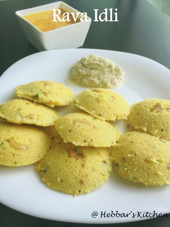 Instant Rava Idli Recipe Hebbars Kitchen