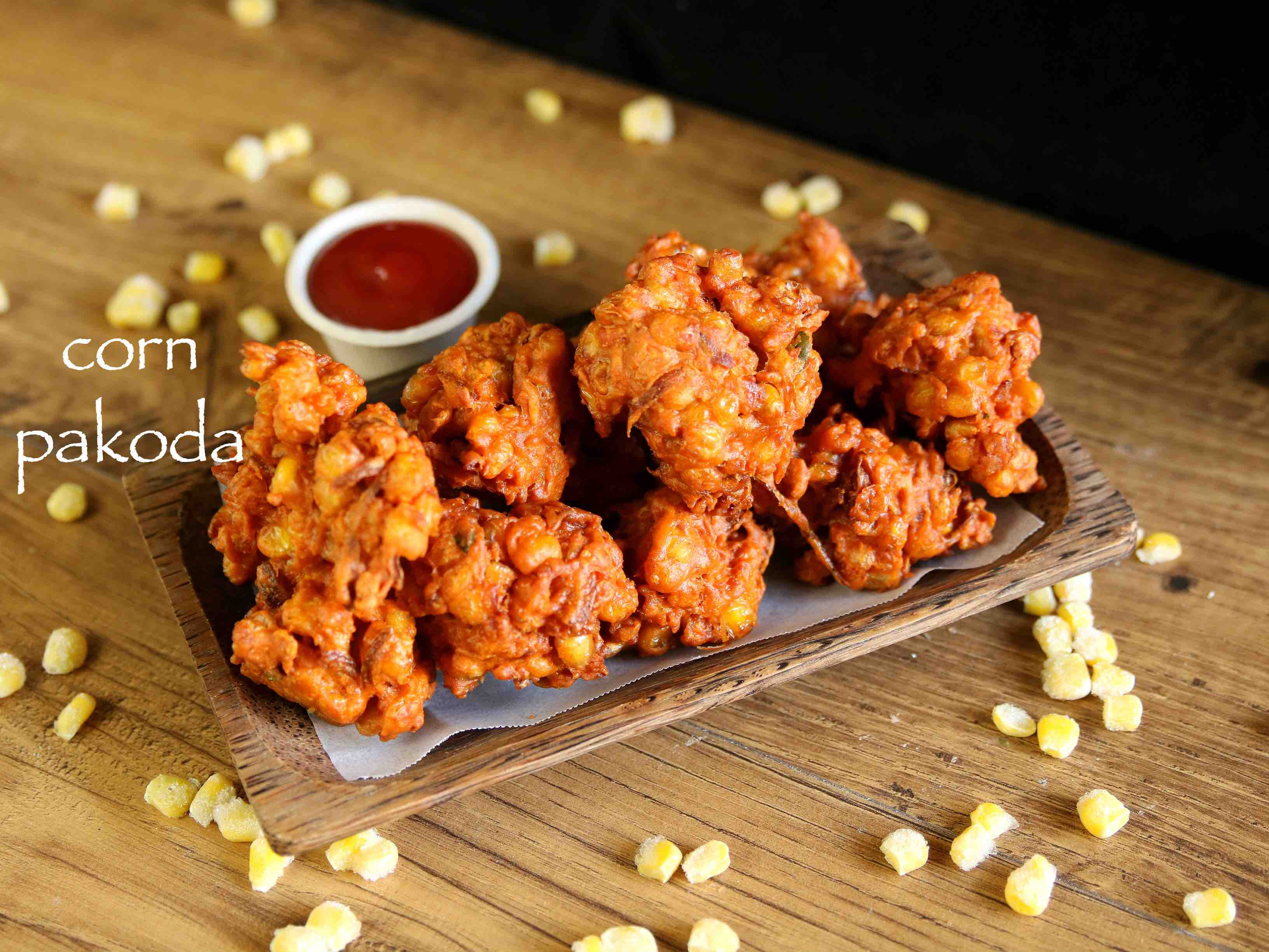 corn pakoda recipe  sweet corn pakora  corn bhajiya recipe