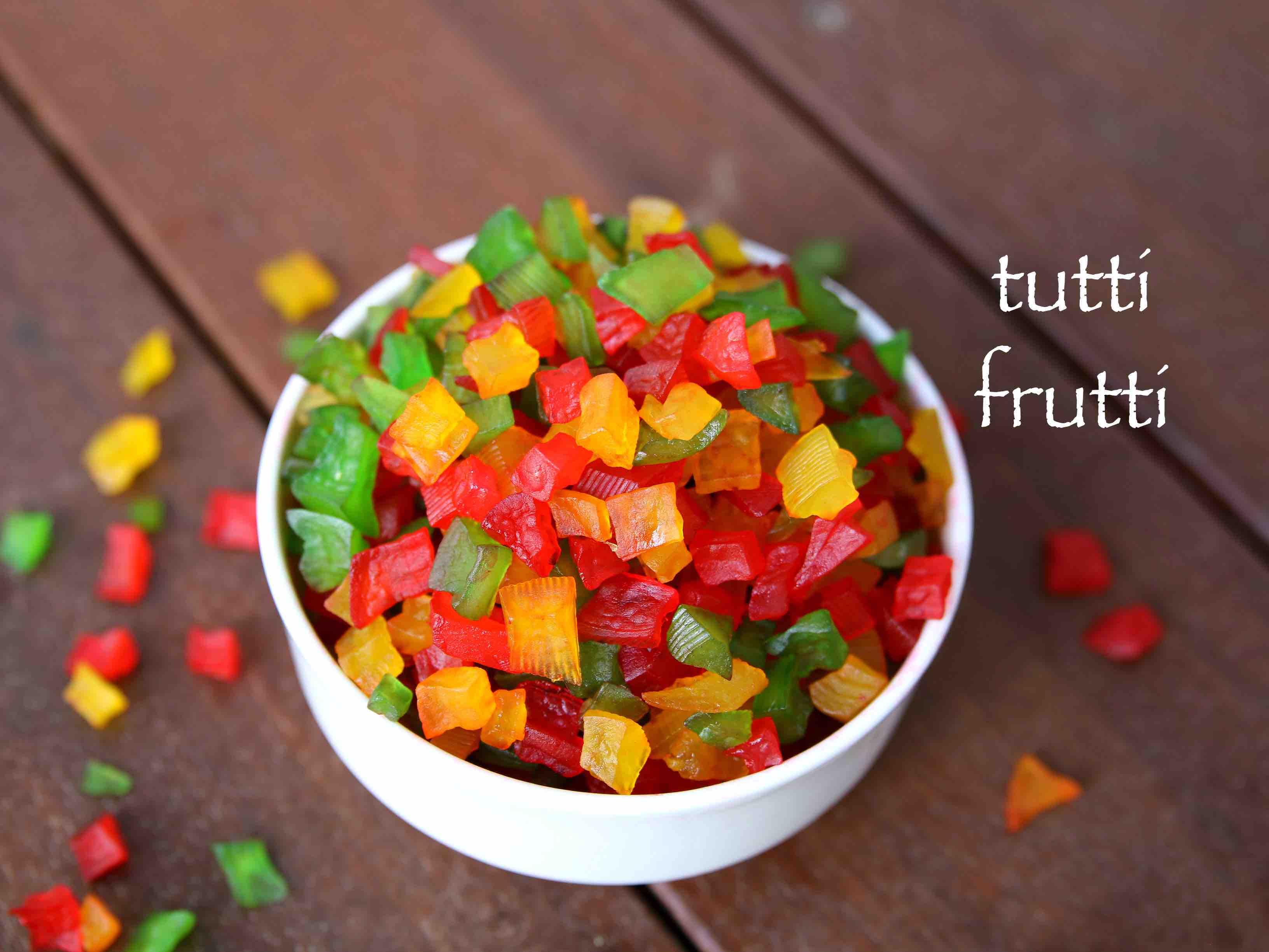 Tutti Frutti Recipe How To Make Tutti Frutti Tutty