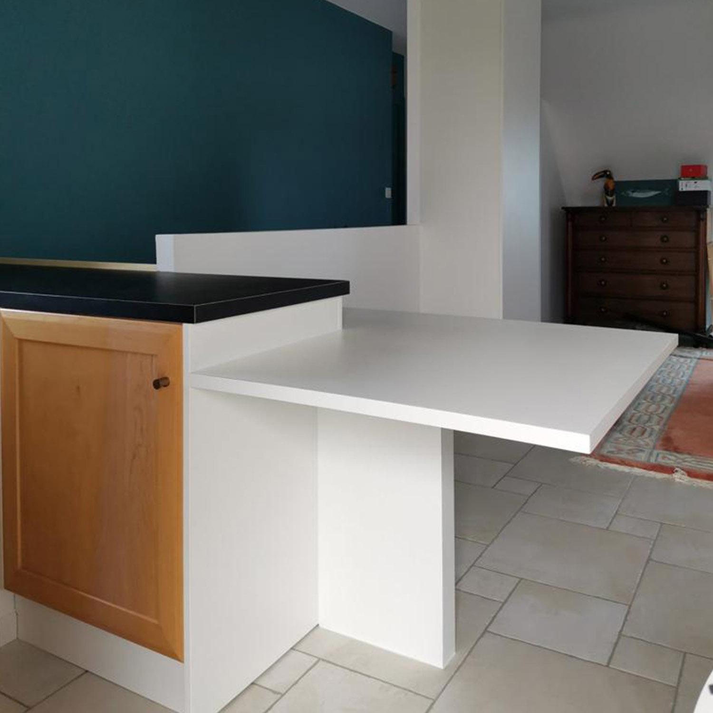 table sur mesure, cuisine, menuisier, agenceur, ébéniste, vannes, morbihan, aménagement intérieur, arradon