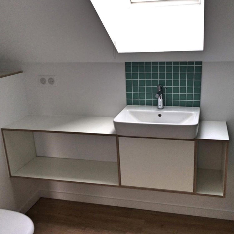 salle de bain sur mesure, contemporaine, meuble salle de bain, mobilier, meuble sous vasque, menuisier, agenceur, ébéniste, vannes, morbihan, aménagement intérieur, arradon