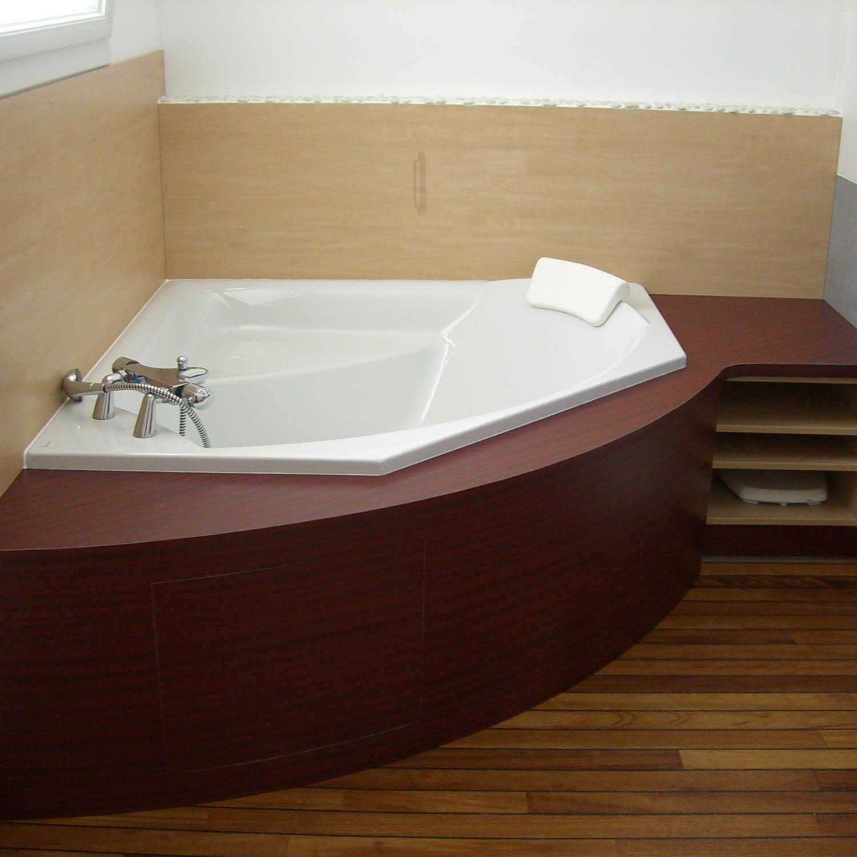 salle de bain sur mesure, contemporaine, meuble salle de bain, mobilier, meuble sous vasque, menuisier, agenceur, ébéniste, vannes, morbihan, aménagement intérieur
