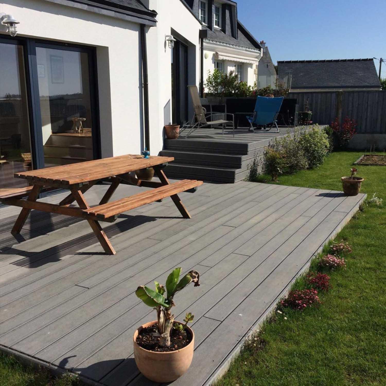 terrasse sur mesure, terrasse bois, terrasse extérieure, menuisier, agenceur, ébéniste, Vannes, Damgan, Morbihan