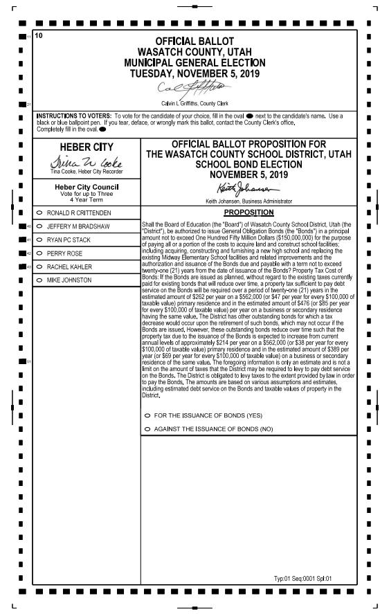 Ballot for Registered Voters