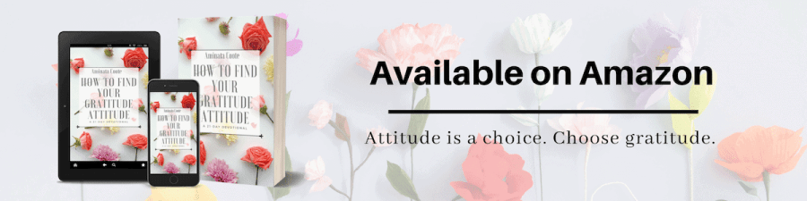 How to Find Your Gratitude Attitude available on Amazon