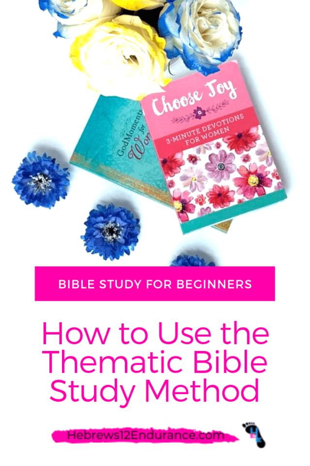 Thematic Bible Study Method