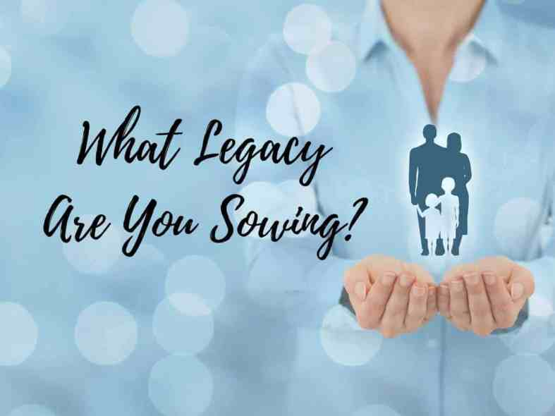 What legacy are you sowing?