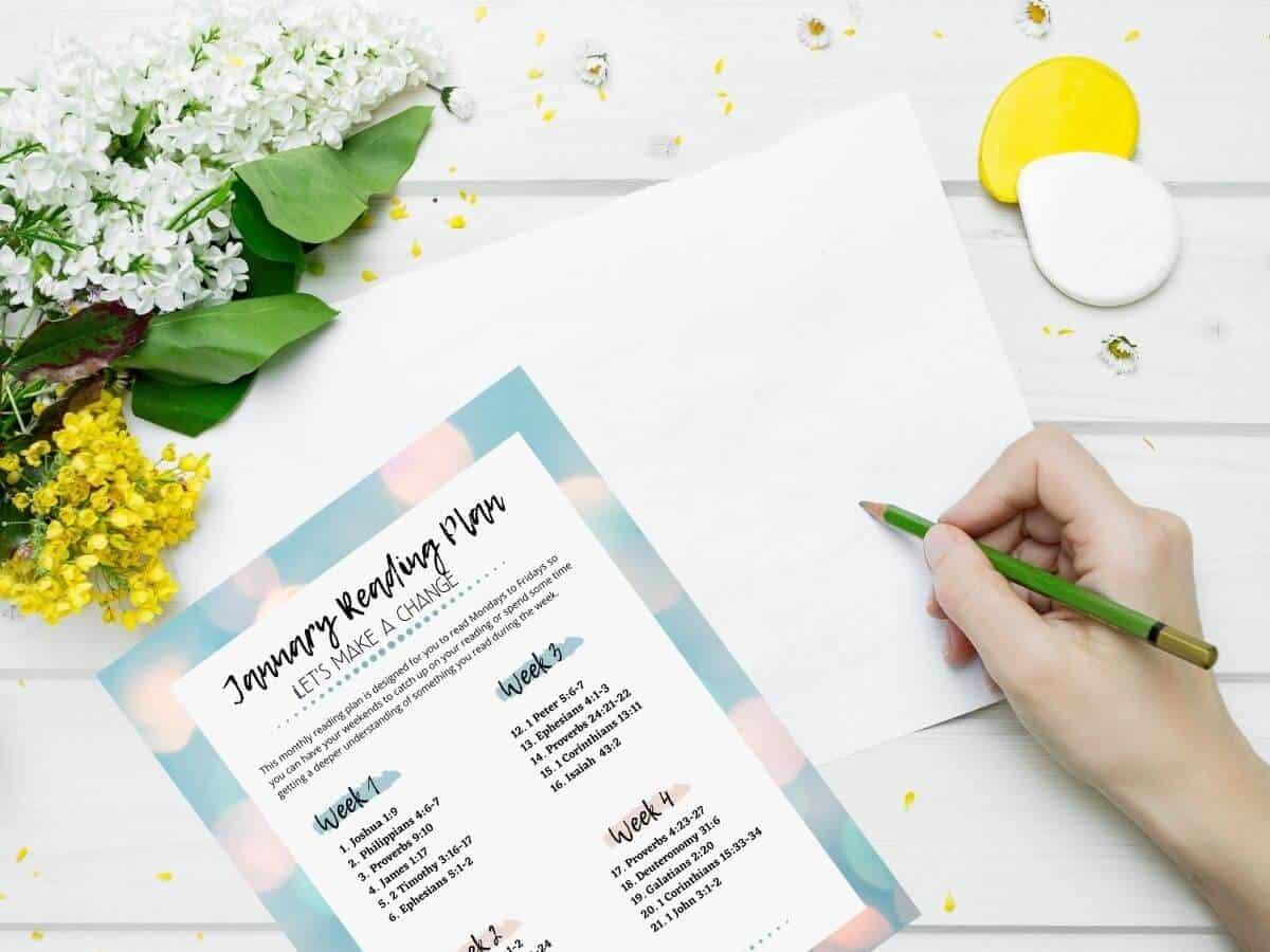 Free Bible study printables and worksheet mockup