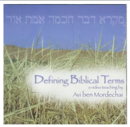 Defining Biblical Terms ~  DVD