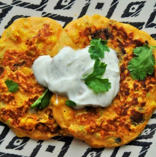 Delicious Courgette and Sweet Potato Pancakes with Chickpea Flour