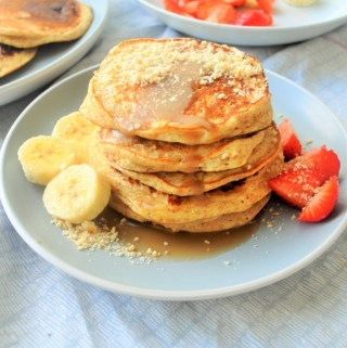 Healthier Ricotta Hotcakes with Whole Wheat and Oat Flour