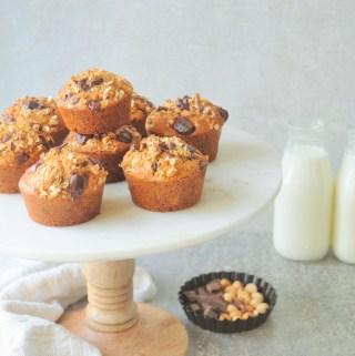 Chocolate Chunk Hazelnut Oat Muffins