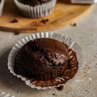 Cashew butter brownie cupcakes – GF+DF