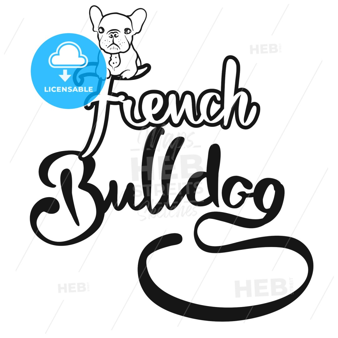 French Bulldog Logo with cute Dog