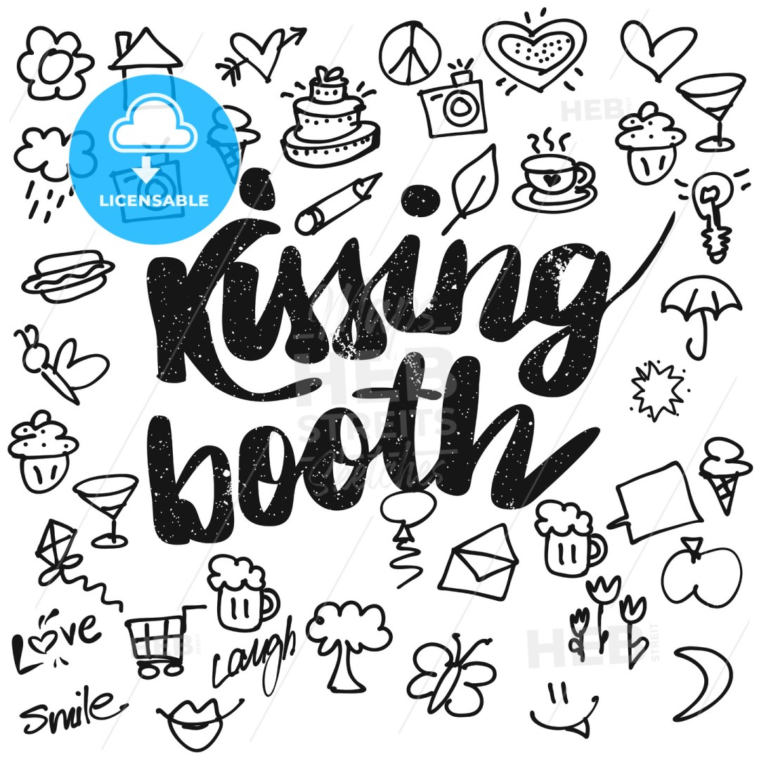 Kissing booth Typo and Doodles