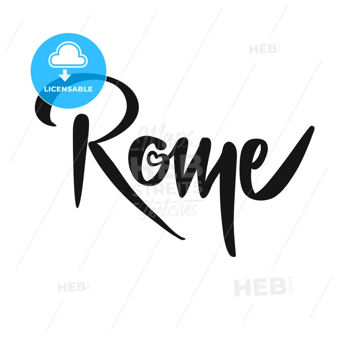 Rome Calligraphic Lettering