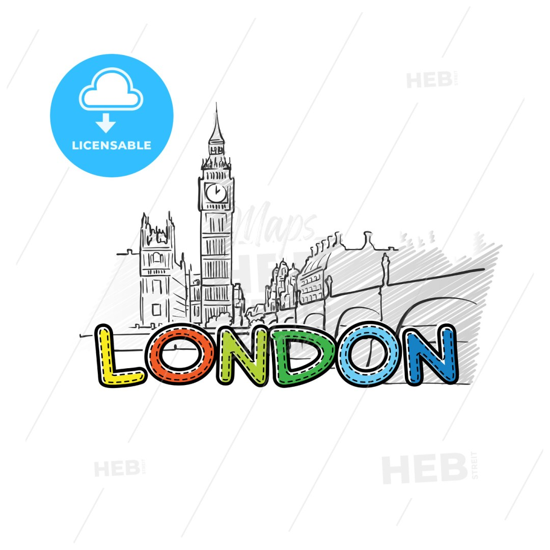 London beautiful sketched icon