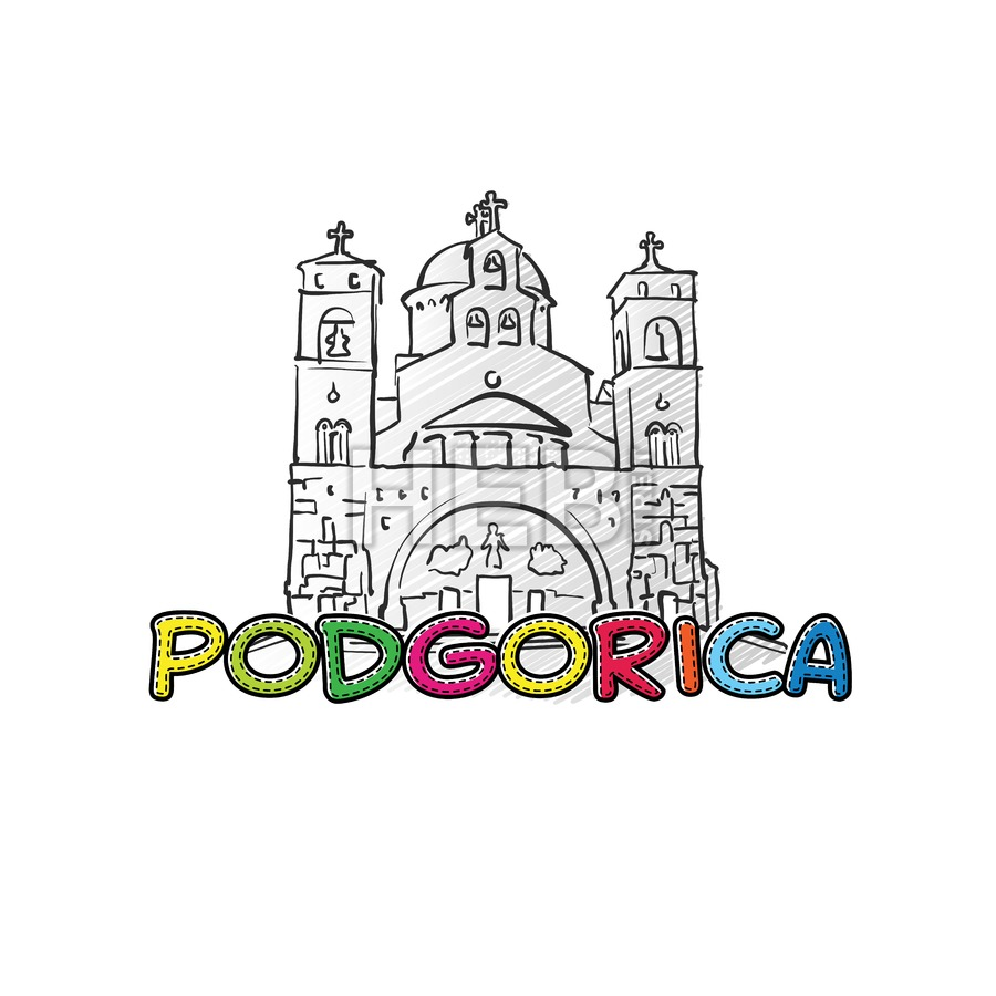 Podgorica beautiful sketched icon