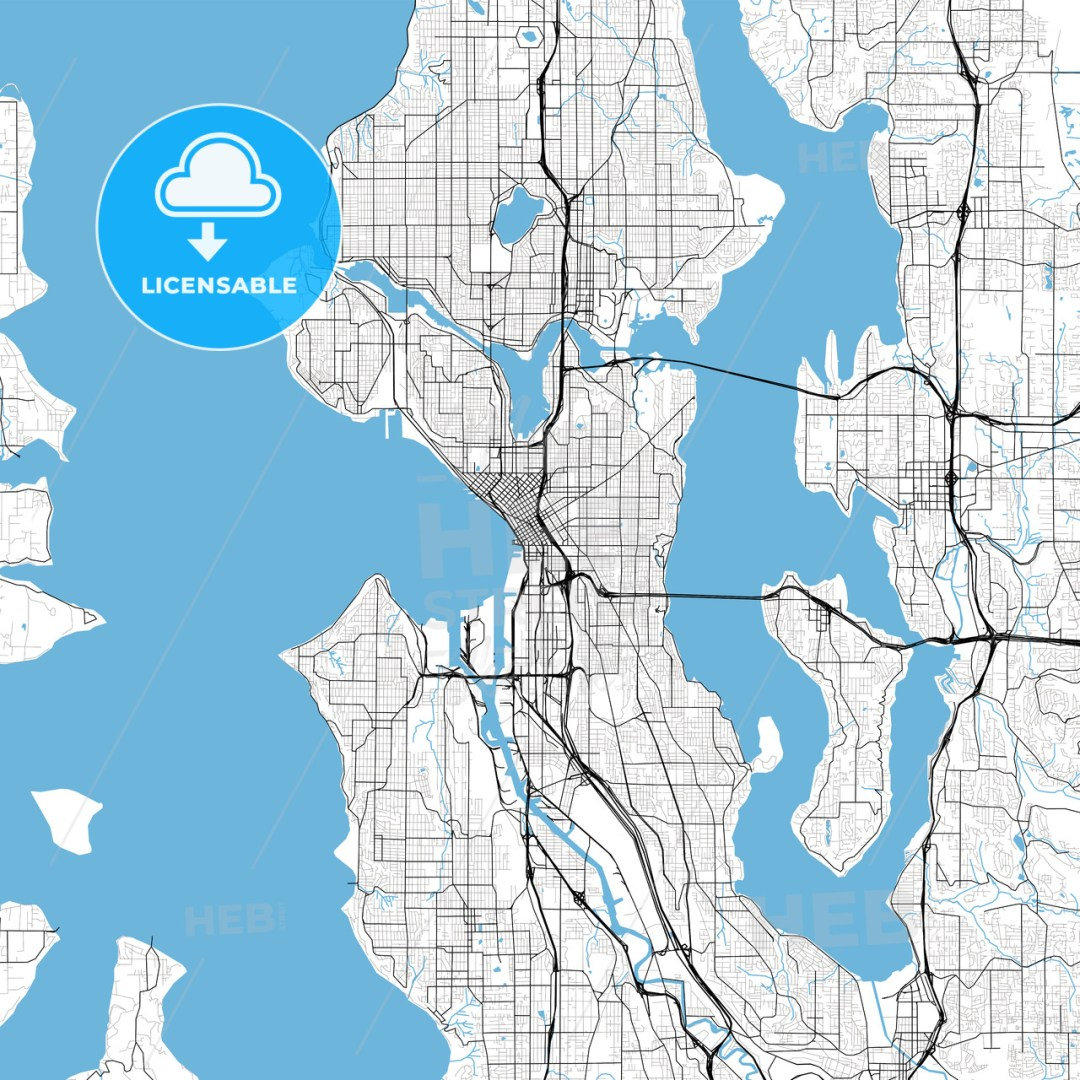 Seattle High Resolution Vector Map