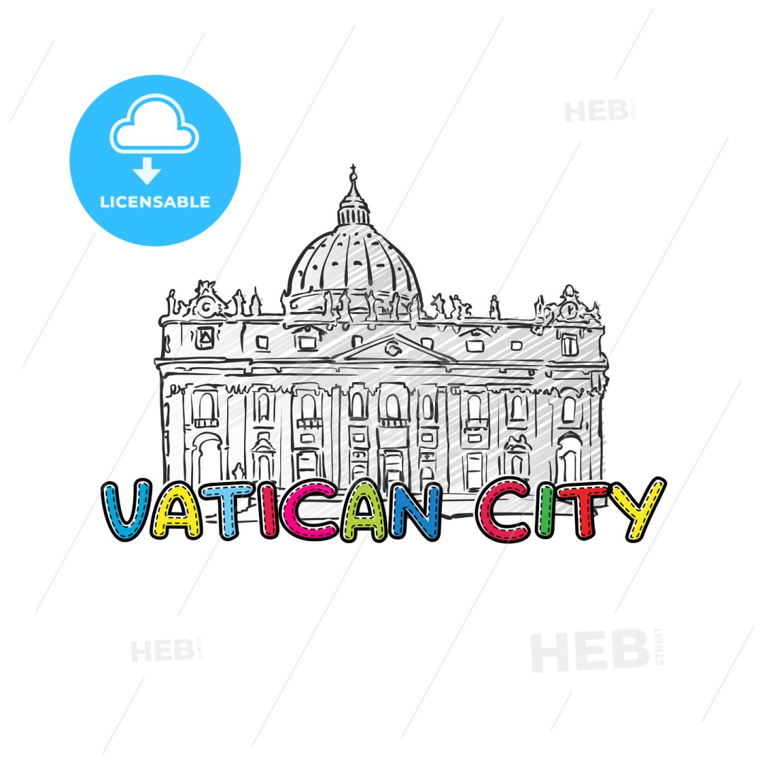 Vatican beautiful sketched icon