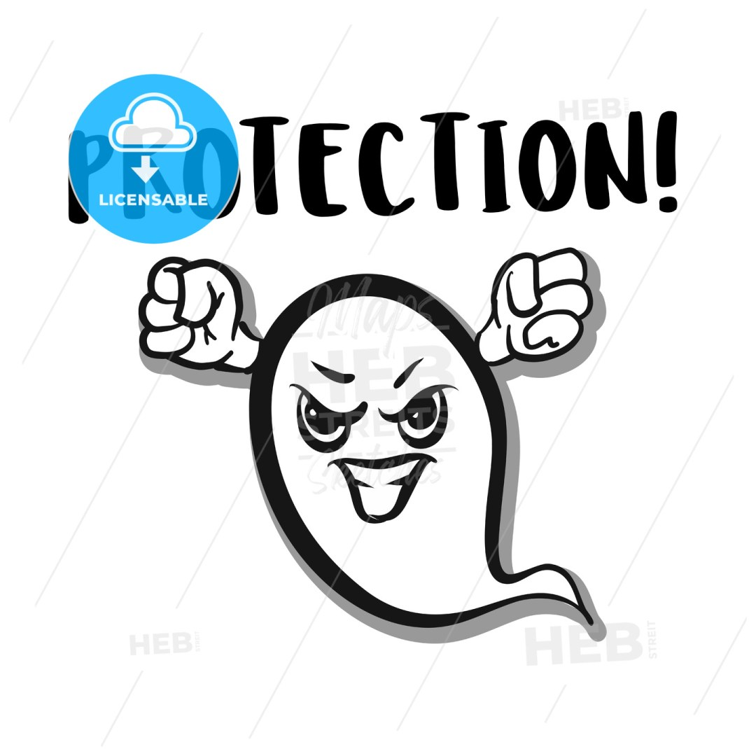 Ghost warning protection alert icon