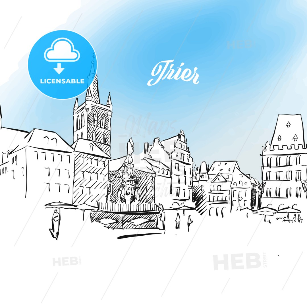Sketch of Trier in Germany