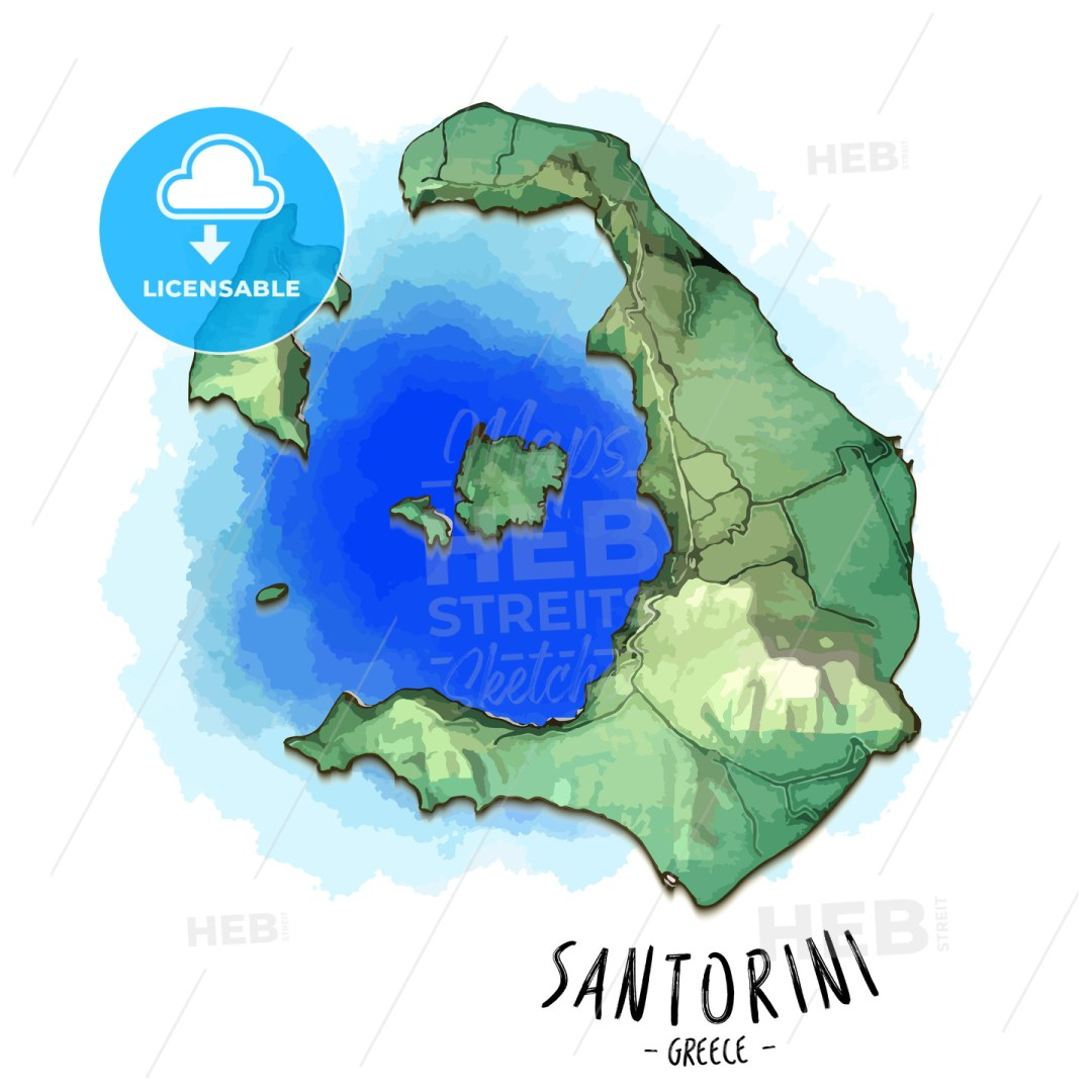 3D map of Santorini