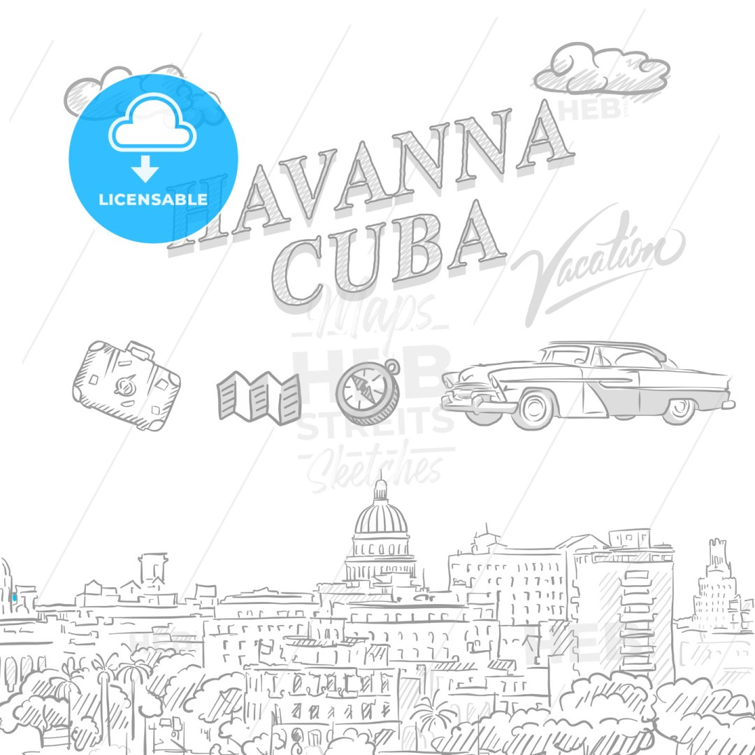 Havanna, Cuba, travel marketing cover