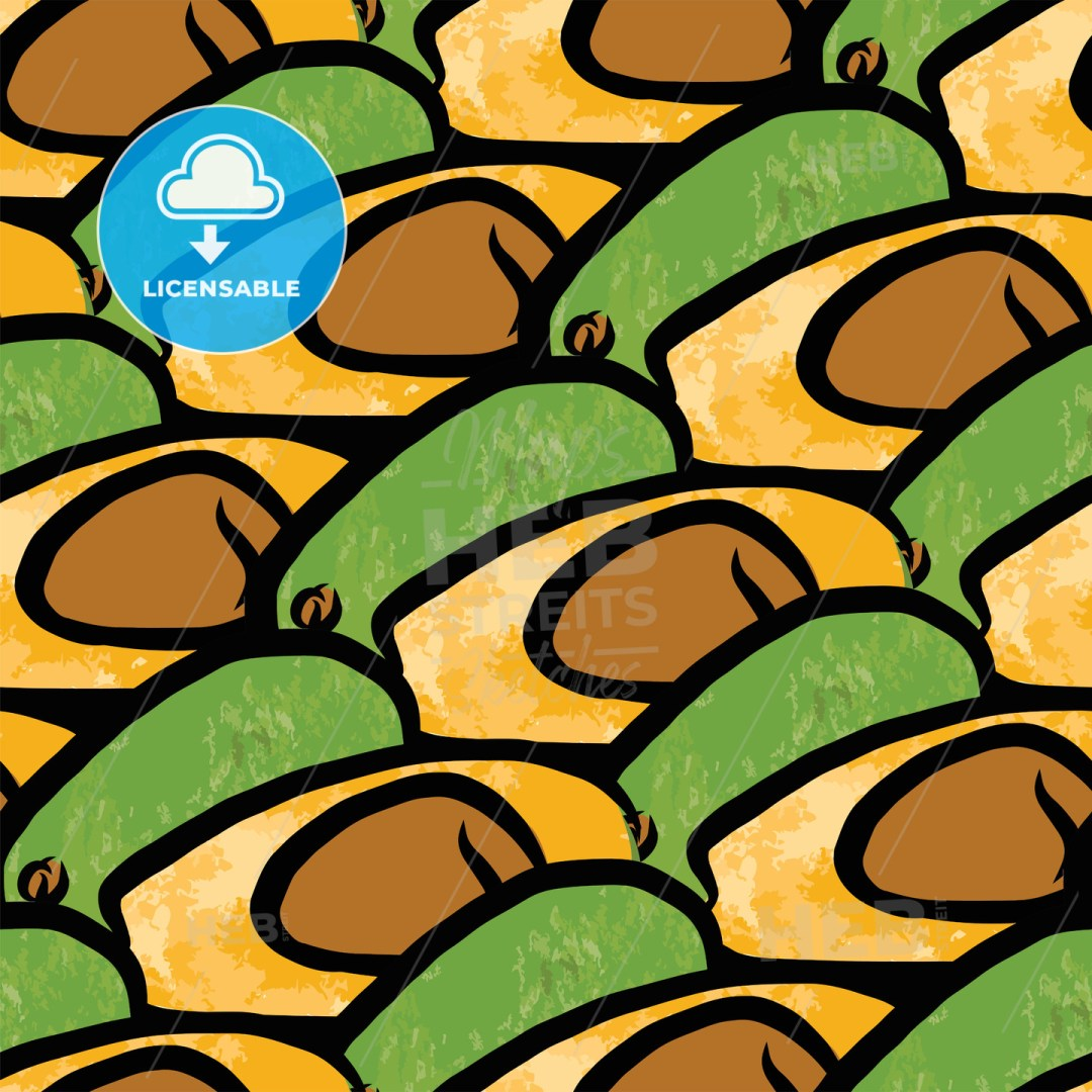 seamless pattern of avocados