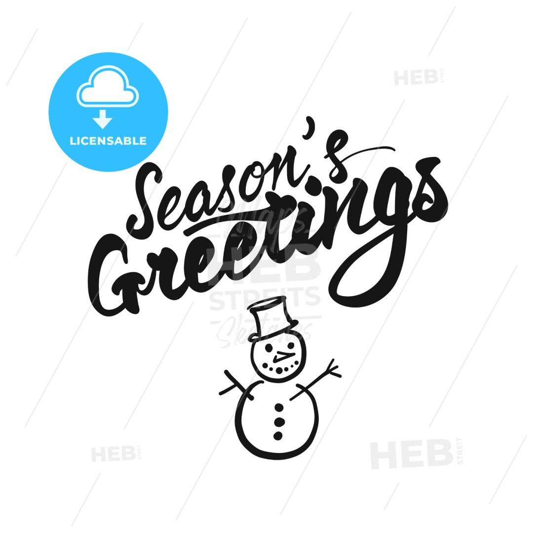 Seasons Greetings lettering