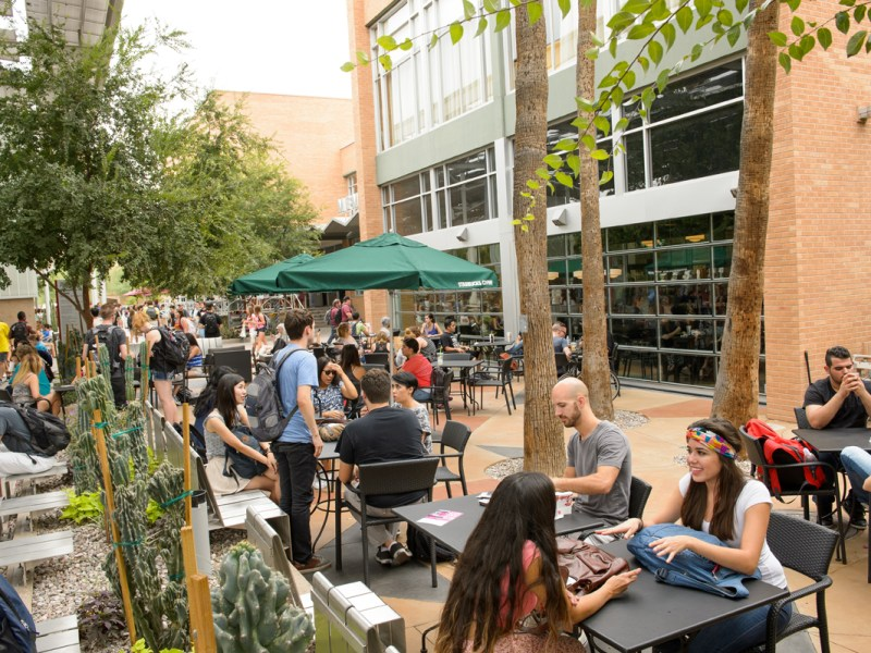 Arizona State University, whose president says it has become a model of how higher education can solve many of its problems.