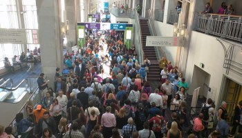 The crowd Monday morning at the ISTE 2015 conference in Philadelphia.