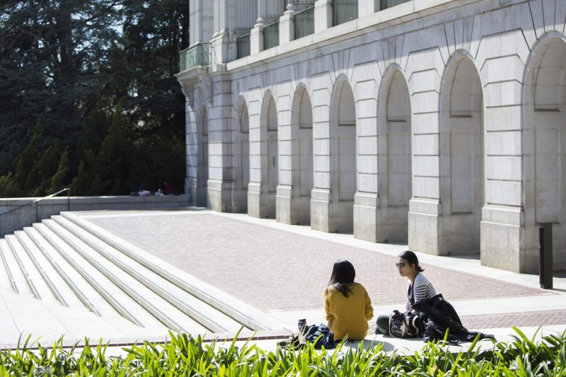 Cal students at UC Berkeley on Friday, April 10, 2015.