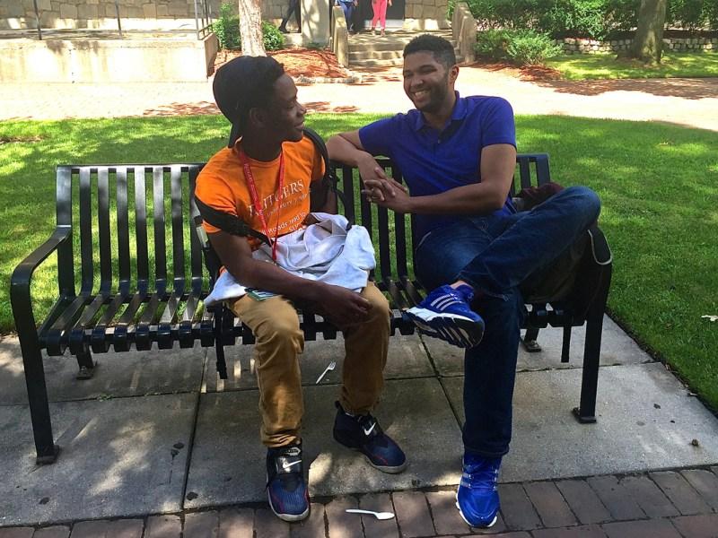Cooperman Scholar Sideeq Waziri and pre-college program director Shawn Jenkins talk about college.
