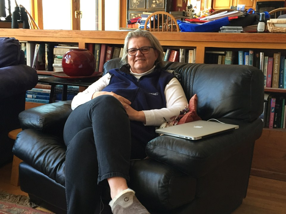 English teacher, Bette Bramante, at home in Durham, NH.