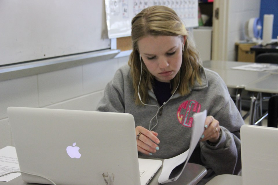 In this file photo, a Mississippi high school student works on a computer in class. Schools across the state are ramping up technology to provide more access to courses for students.